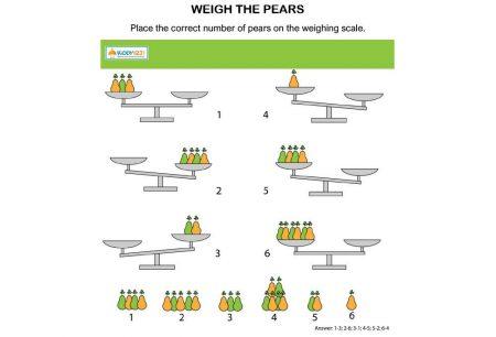 MATHS - Weigh the pears