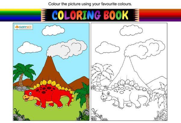 ART - Colouring dinosaur