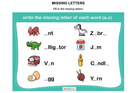 LANGUAGE - Missing letters A & E