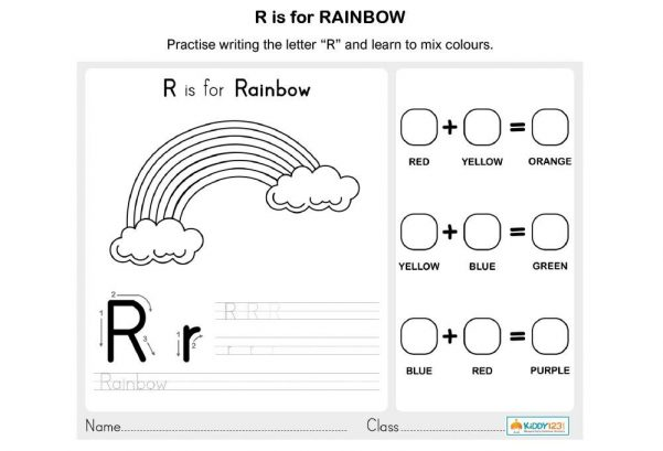LANGUAGE - R is for Rainbow