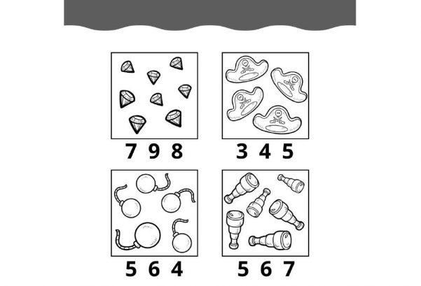 NUMBERS - Count and Circle