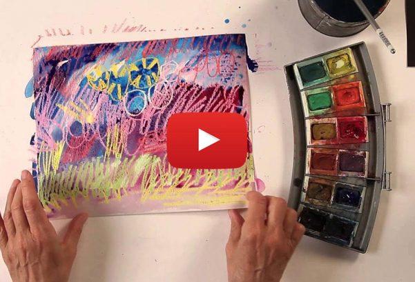 Carla Sonheim: Kids Art Week – Lesson 2: Crayon Resist Night Sky