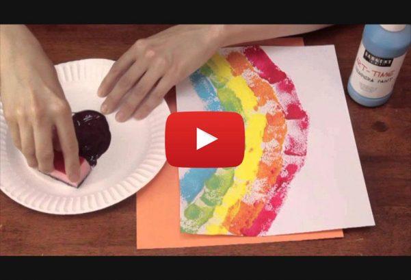 eHowArtsAndCrafts: Sponge Printing for Kindergarten Art Activities