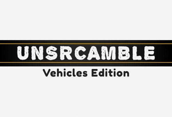 Unscramble - Vehicles Edition