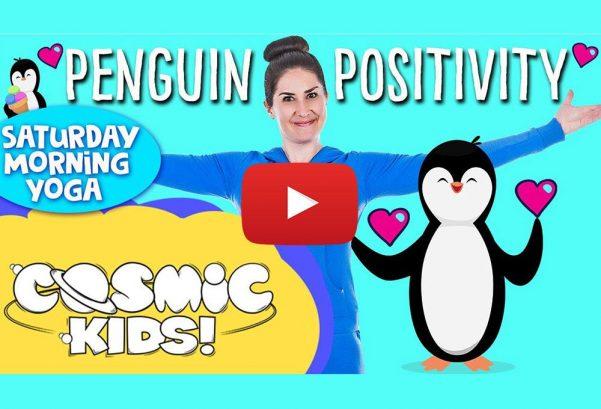 Cosmic Kids Yoga: Saturday Morning Yoga!   Penguin Positivity