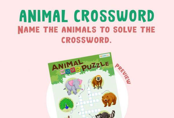 Language - Animal Crossword