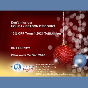 Holiday Season Discount @ Modern English, Bandar Puteri, Puchong