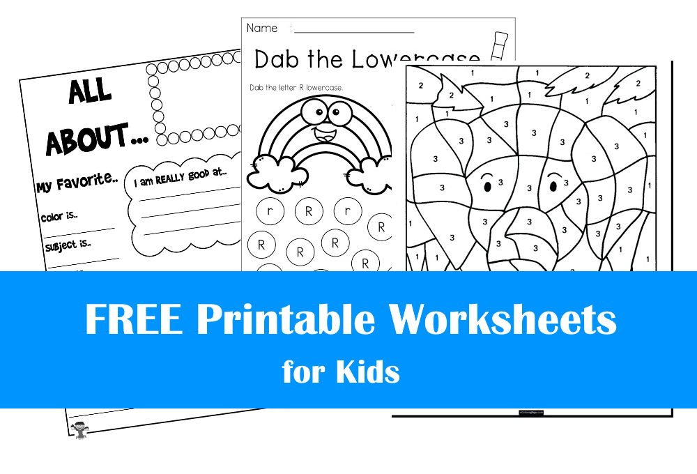 FREE Printable Worksheets for Kids | Bundle #1