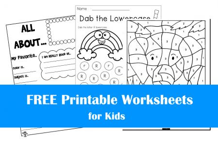 FREE Printable Worksheets for Kids | Bundle #1