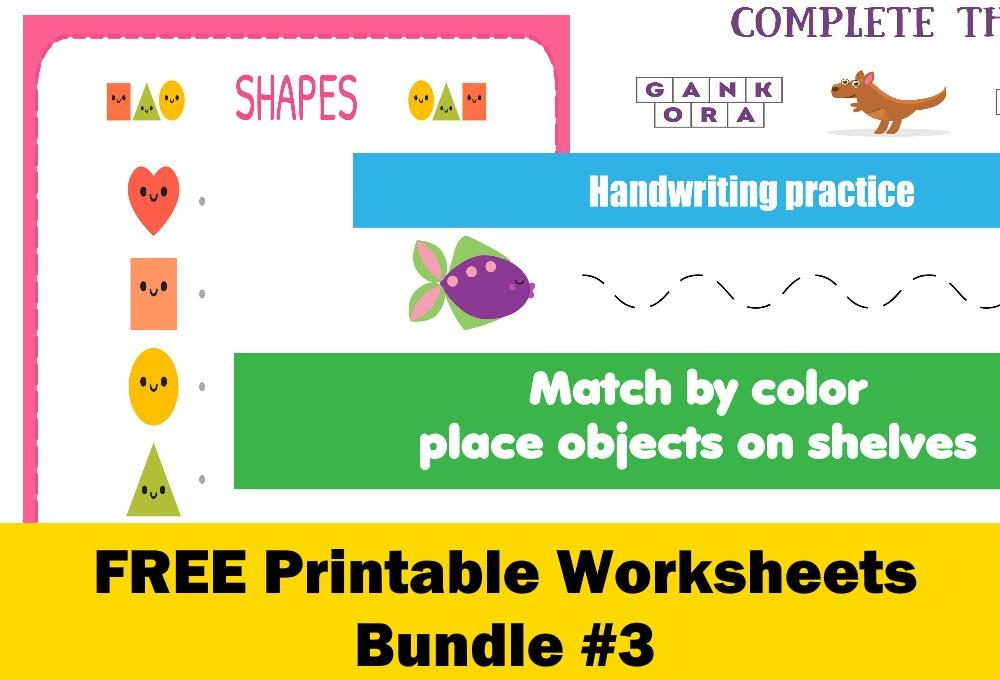 FREE Printable Worksheets for Kids | Bundle #3