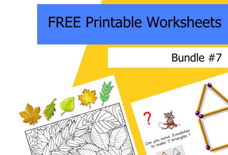 FREE Printable Worksheets for Kids | Bundle #7