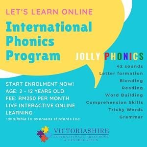 Online English Phonics Program For Age 2-12 @ Victoriashire International Preschool