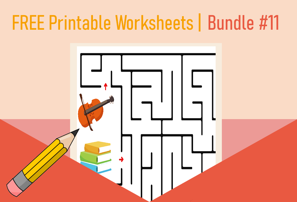 FREE Printable Worksheets for Kids   Bundle #11