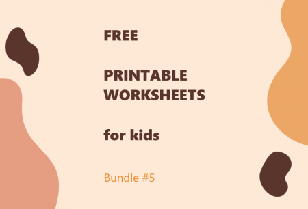 Printable Worksheets Bundle #5