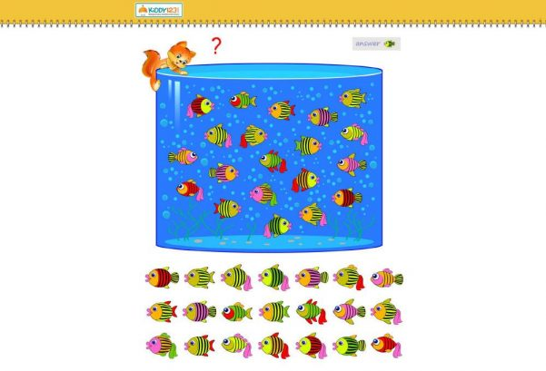 Numbers - Which fish is missing?