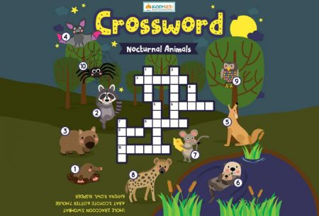 Language - Crossword nocturnal animals