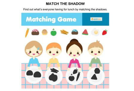 Logic & Puzzles - Match Shadow Food Plate