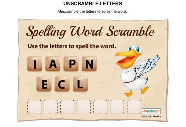 LANGUAGE - Unscramble Letters