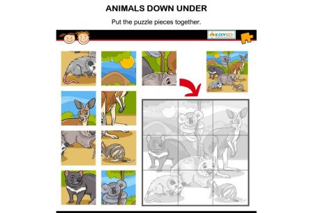 Just For Fun - Puzzle Animals Down Under