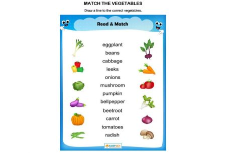 Language - Match The Vegetables