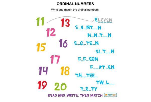 NUMBERS - Ordinal numbers