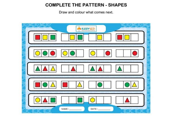 Logic & Puzzles - Complete The Pattern (Shapes)