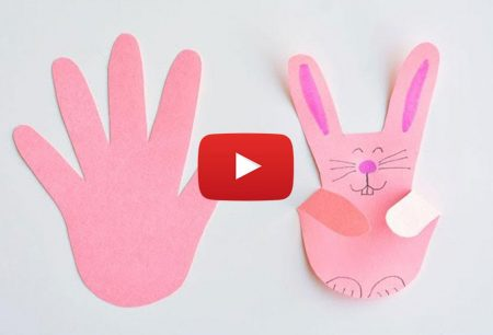 One Little Project: Paper Handprint Bunnies | Easy Easter Craft Using Construction Paper