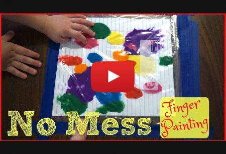 Days of May: NO MESS FINGER PAINTING!!