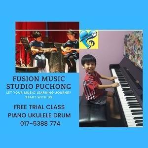 FREE TRIAL Piano Drum Guitar Ukulele Class (Puchong) @ Fusion Music Studio, Puchong
