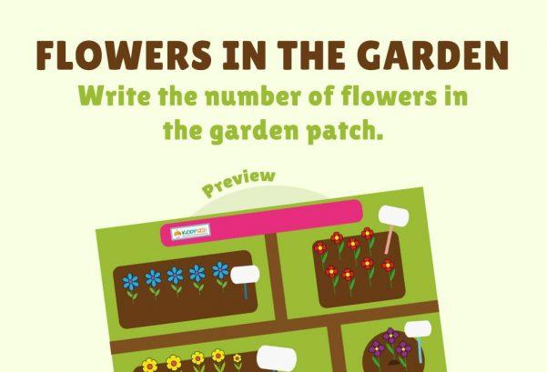 Numbers - Flowers in the garden