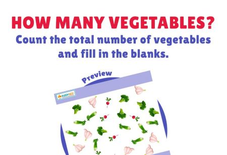 Numbers - How many vegetables are there?