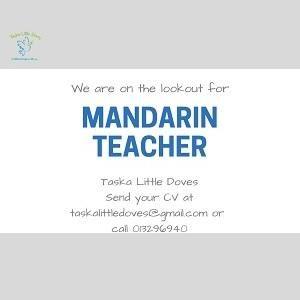 Mandarin Teacher @ Taska Little Doves (Wholly Own by Jolly Seeds Educare Sdn Bhd), USJ (Subang Jaya)