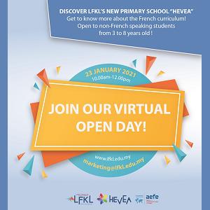 Virtual Open Day @ French School of Kuala Lumpur (LFKL), Segambut, Kuala Lumpur