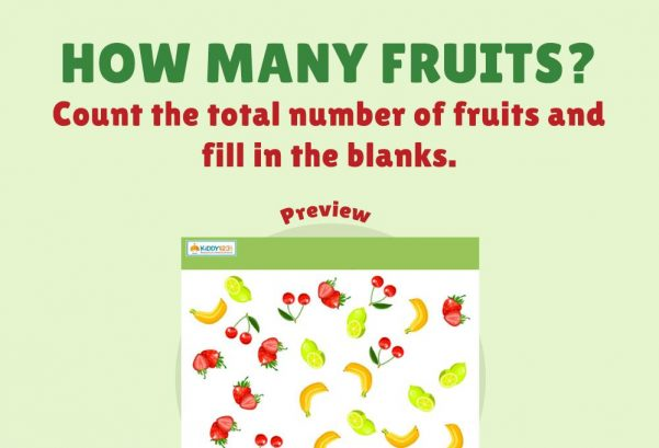 Numbers - How many fruits?