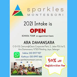 2021 Intake @ Sparkles Montessori Ara Damansara, Petaling Jaya