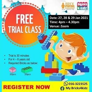 FREE Trial Class @ My Bricks4Kidz, Damansara Perdana (Petaling Jaya)