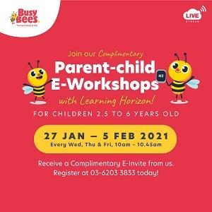 Busy Bees Complimentary Parent-child E-Workshop 2021
