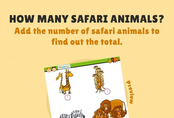 Numbers - How many safari animals