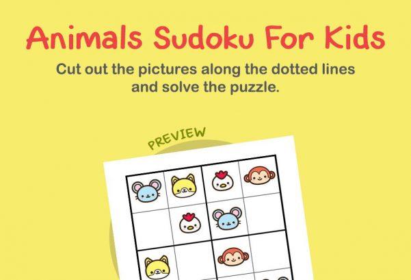Logic & Puzzles - Animals sudoku