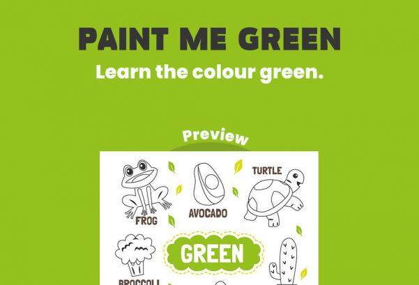 Art - Paint me green