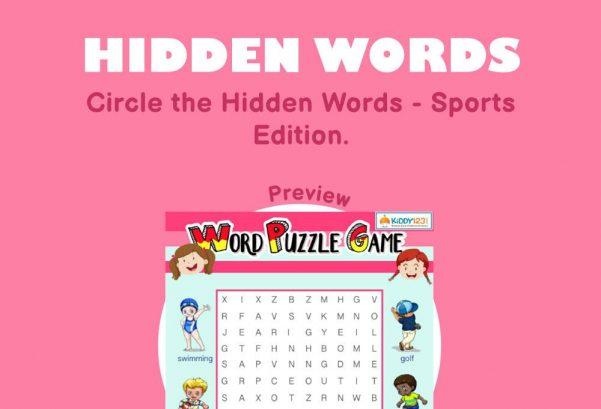 Logic & Puzzles - Hidden words