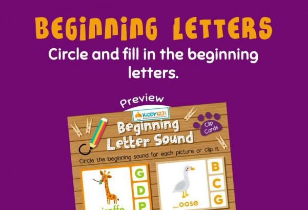 Language - Beginning Letters