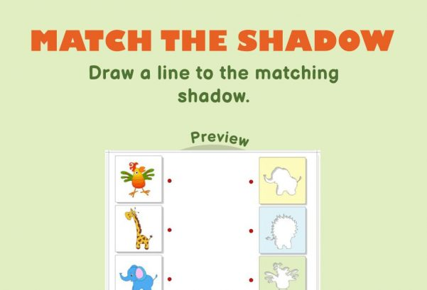 Logic & Puzzles - Match the shadow