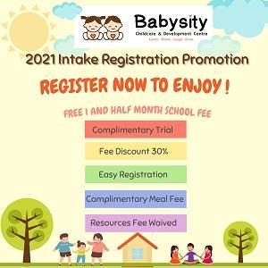 Open For Enrolment with Compulsory Free Trial @ Babysity Childcare & Development Centre