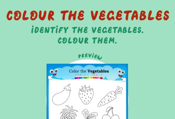 Art - Colour the vegetables
