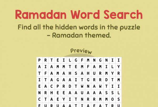 Logic & Puzzles - Ramadan Word Search