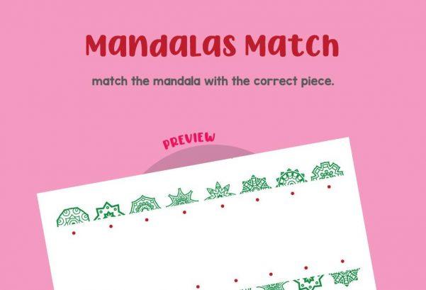 Logic & Puzzles - Mandalas match