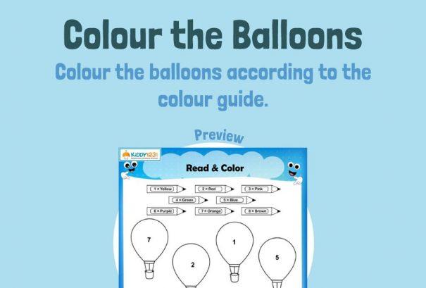 Art - Colour the balloons