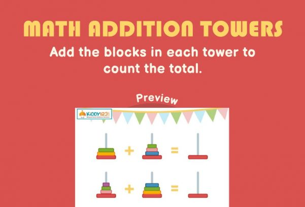 Numbers - Math addition towers
