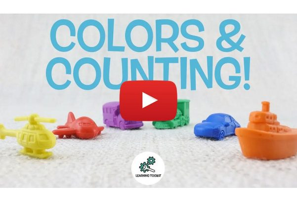 Learning Toolkit: Learn COLORS & COUNTING WITH TRANSPORT VEHICLES